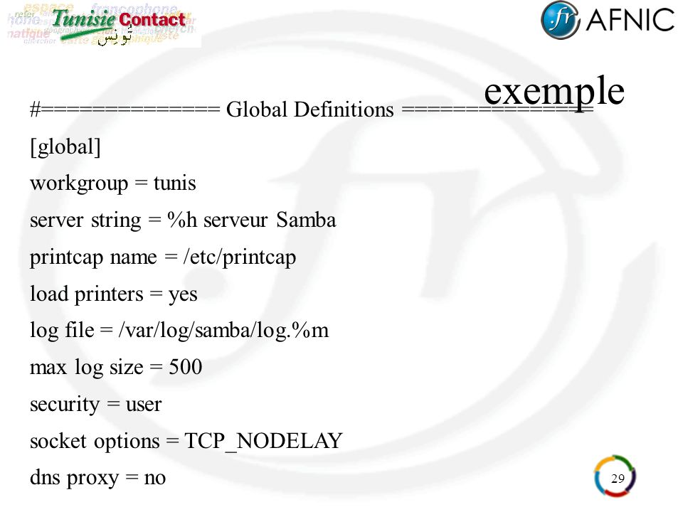 exemple #============== Global Definitions =============== [global]